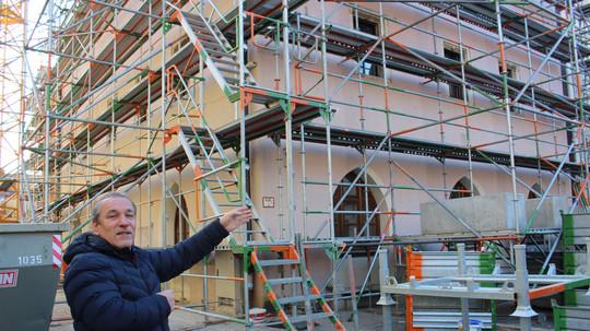 Rathaus-Baustelle braucht mehr Platz